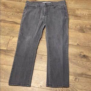 Kenneth Cole straight leg grey jean 36/30
